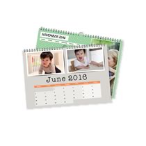 2 x A4 Landscape Personalised Calendar incl Delivery