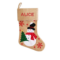 Modern Christmas Stocking - Snowman incl Delivery