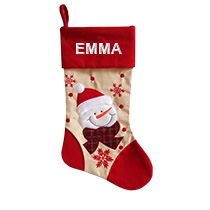 Red Christmas Stocking - Snowman incl Delivery