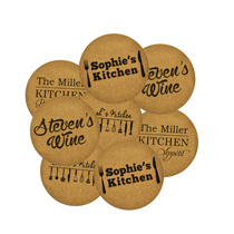 8 x Personalised Cork Coaster 95mm incl Delivery
