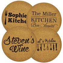 4 x Personalised Hot Pad 240mm incl Delivery