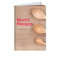 60 Page Hardcover A4 Portrait Recipe Book incl Delivery