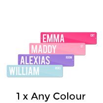 1 x Premium Metal Street Sign 10x45cm (Any Colour) incl Delivery